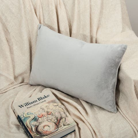 "NTBAY 2-piece Luxury Soft Velvet Pillow Cover with Hidden Zipper Closure (12"" x 20"", 20"" x 30"", 20"" x 36"")"