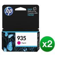 HP 935 Magenta Original Ink Cartridge (C2P21AN) (2-Pack)