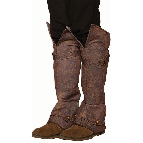 Weathered Boot Covers - Brown - One Size Fits Most. Opens flyout.