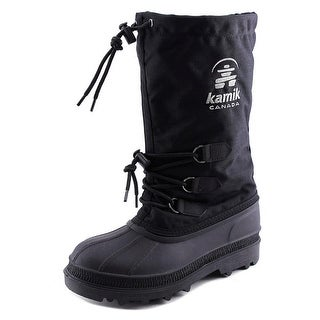 Kamik Canuck Men Round Toe Synthetic Black Snow Boot