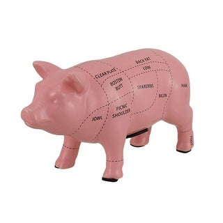 Link to Pink Ceramic Pig Shaped Coin Bank Butcher Chart Piggy Bank 4 in. Similar Items in Collectibles