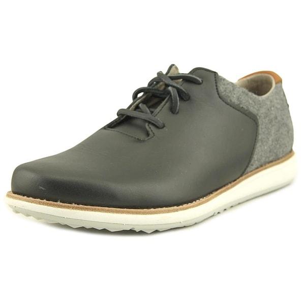 Ohw? Rowntree Men Leather Black Fashion Sneakers