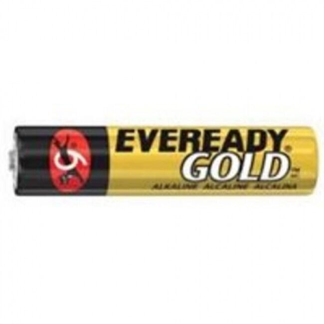 Eveready Gold A92BP-4 Alkaline Battery, 1.5 Volt, AAA