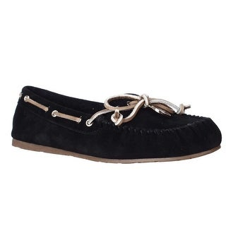Coach Antonia Moccasin Slippers, Black - 7.5 us