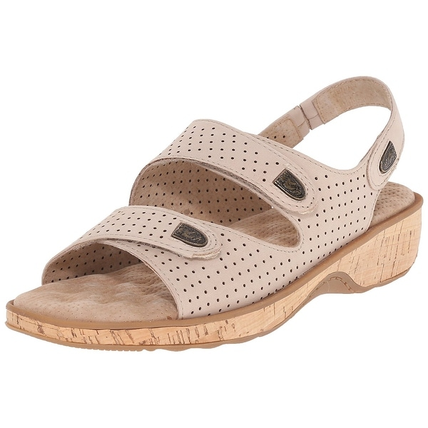 Softwalk NEW Beige Women's Shoes Size 6.5M Bolivia Leather Sandal