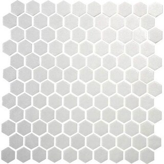 "Daltile UP1HEXMSP1S Uptown Glass - 1"" x 1"" Hexagon Mosaic Multi-Surface Tile - S"