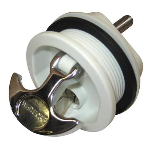 Whitecap T-Handle Latch Cp Zamac/White Nylon Locking - S-226WC