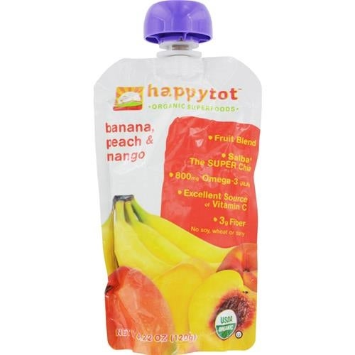 Happy Family - Organic Superfood - Banana Peach And Mango ( 16 - 4.22 OZ)