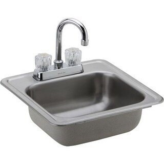 "Elkay DP211515C Dayton 15"" Single Basin Drop-In Stainless Steel Kitchen Sink with High-Arc Bar Faucet - Includes Drain"
