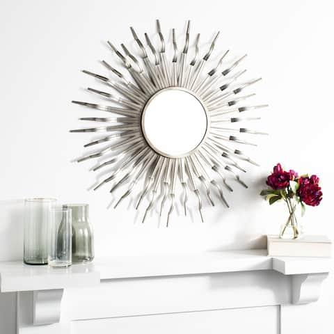 """SAFAVIEH Naya 35-inch Sunburst Round Mirror - 35"""" W x 1.5"""" L x 35"""" H"""