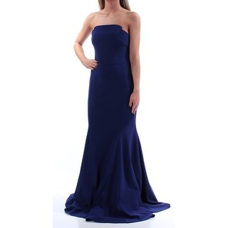 BETSY & ADAM $239 Womens New 1554 Blue Strapless Mermaid Dress 2 B+B