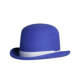 Tall Derby Bowler Hat in Royal Blue