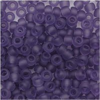 Toho Round Seed Beads 8/0 19F 'Transparent Frosted Sugar Plum' 8 Gram Tube
