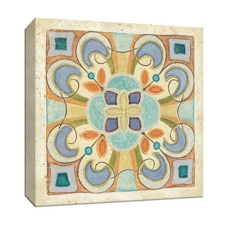 """PTM Images 9-153014  PTM Canvas Collection 12"""" x 12"""" - """"Birds Garden Tile II"""" Giclee Patterns and Designs Art Print on Canvas"""
