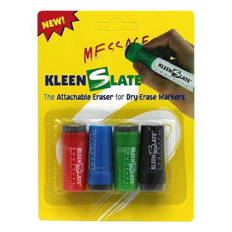 Kleenslate attachable erasers 4/pk for dry 0432