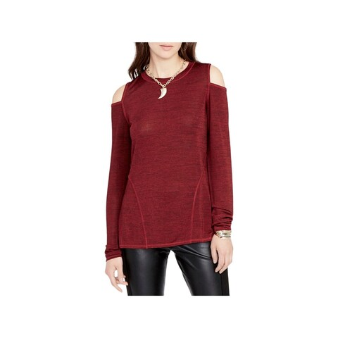 Rachel Rachel Roy Womens Pullover Top Cold-Shoulder Slub