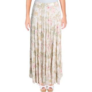 Denim & Supply Ralph Lauren Womens Peasant, Boho Skirt Maxi Floral Tiered - XS