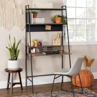 Carbon Loft Lahuri Metal Frame Ladder Shelf Desk