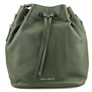 Vince Camuto Gabe Drawstring Bag Leather Hobo - Green