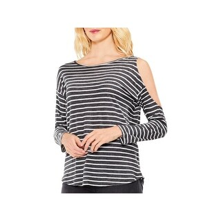 Two by Vince Camuto Womens Casual Top Cold Shoulder Striped