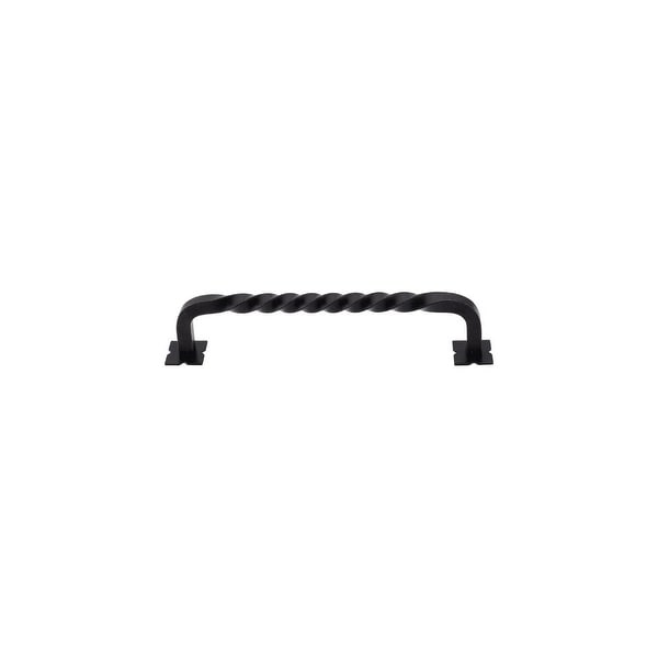 "Top Knobs M737 Square 6"" Center to Center Handle Cabinet Pull from the Normandy Series - patina black - n/a"
