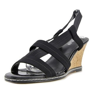 Charles By Charles David Hyper Women  Open Toe Synthetic Black Wedge Sandal