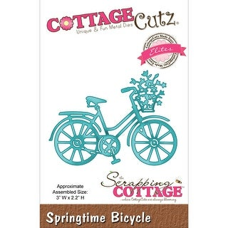 "CottageCutz Elites Die -Springtime Bicycle 3""X2.2"""