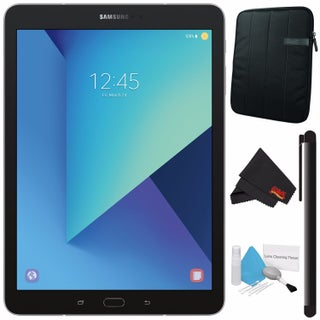 "Samsung 32GB Galaxy Tab S3 9.7"" Wi-Fi Tablet SM-T820NZKAXAR + Tablet Neoprene Sleeve 10.1"" Case (Black) Bundle (Option: Silver)"