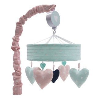 Lambs & Ivy Pink Felicity Musical Baby Crib Mobile
