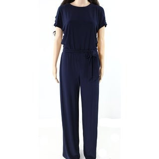 Lauren by Ralph Lauren NEW Blue Womens Size XXL Split-Sleeve Jumpsuit