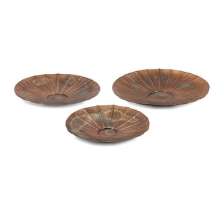 IMAX Home 60315-3  Suri Copper Plated Iron Decorative Plates - Set of 3