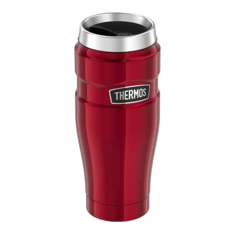 Thermos Vacuum Insulated Stainless King Travel Tumbler, Cranberry Red, 16 Ounces - 16 oz