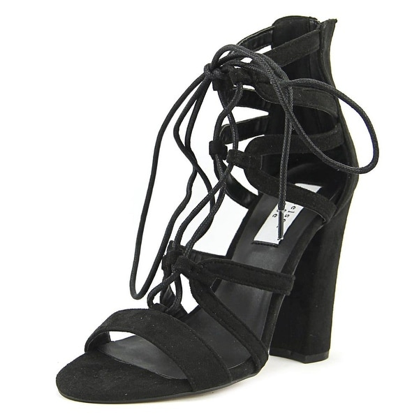Chelsea & Zoe Elyse Women Black Sandals