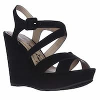 AR35 Rachey Wedge Platform Peep-Toe Sandals, Black