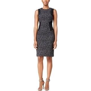 Calvin Klein Womens Wear to Work Dress Faux Suede Panel