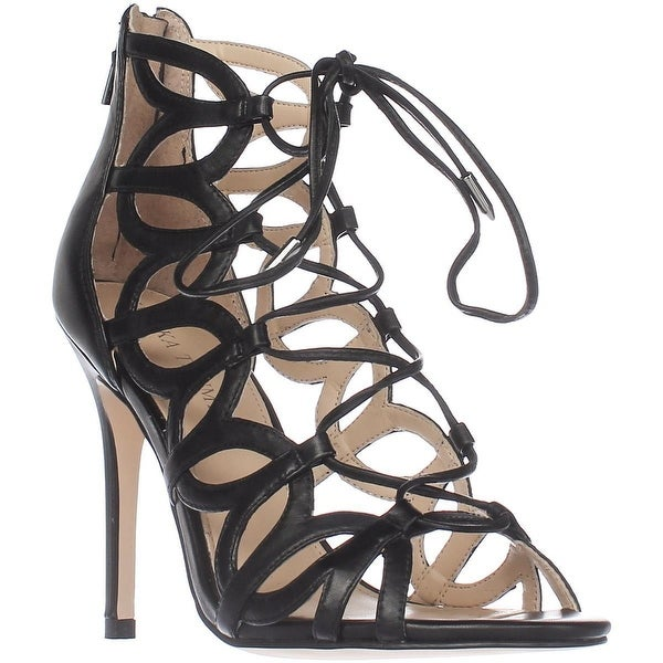Ivanka Trump Hela Lace Up Gladiator Sandals, Black