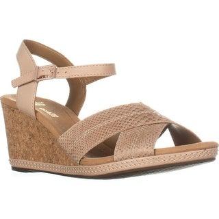 Clarks Helio Latitude Comfort Wedge Sandals, Nude - 10 us / 41.5 eu