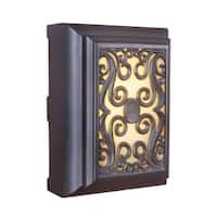 """Craftmade ICH1630 11.5"""" x 8.38"""" Rectangle LED Frame Scroll Door Chime 2 Note Tone - Oiled Bronze"""