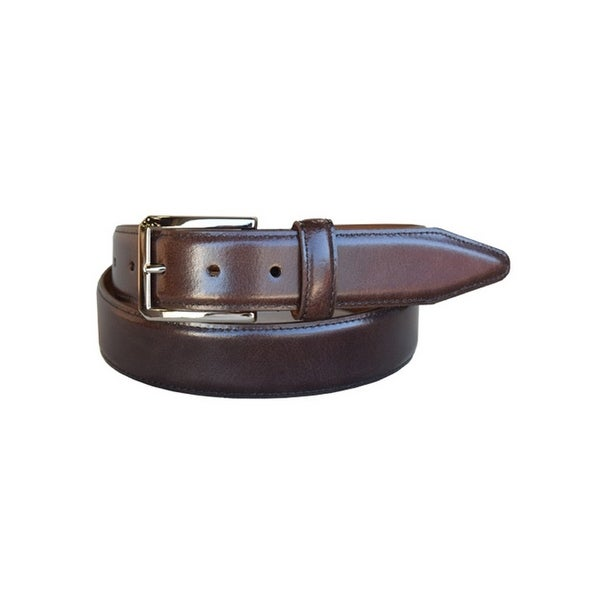 Lejon Western Belt Mens Holden Leather Tapered Brown