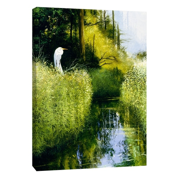 """PTM Images 9-108345 PTM Canvas Collection 10"""" x 8"""" - """"Blue Day"""" Giclee Cranes Art Print on Canvas"""