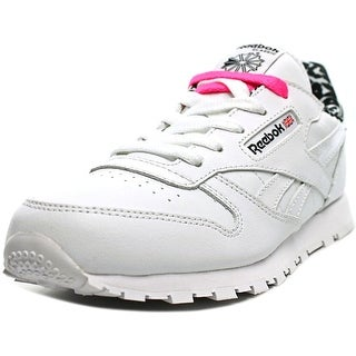 Reebok Classic Leather Animal Round Toe Leather Sneakers