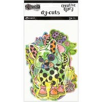 Dyan Reaveley's Dylusions Creative Dyary Die Cuts-Colored Animals