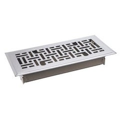 "TA Industries C167-MSN 04X12 Floor Register, 4"" x 12"", Satin Nickel"