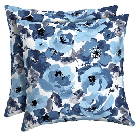 Arden Selections Garden Delight Outdoor Square Pillow 2-Pack - 16 in L x 16 in W x 5 in H