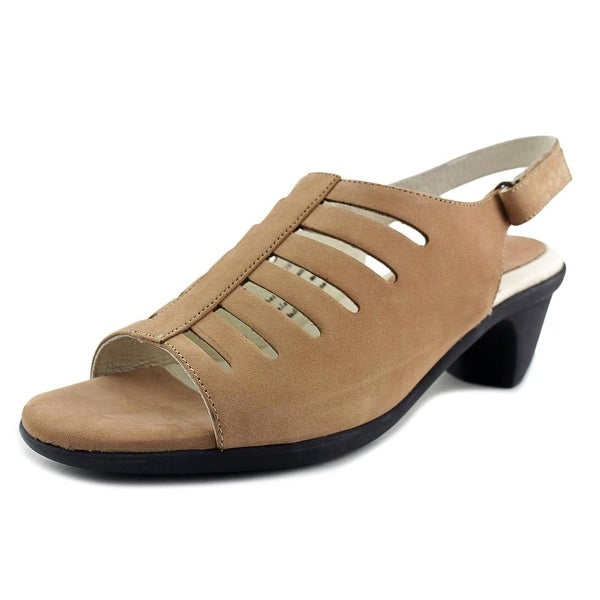 David Tate Lexus Women W Open-Toe Leather Slingback Sandal