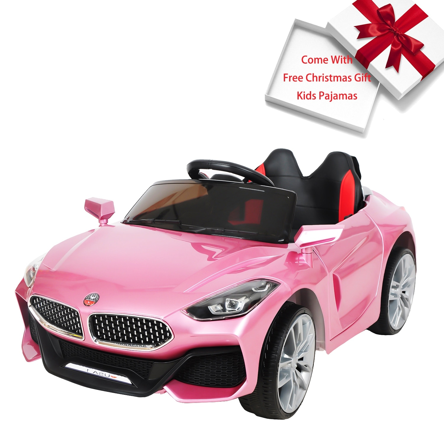 Cars For Kids >> Kids Ride On Car Electric Cars For Kids W Remote Control Pink