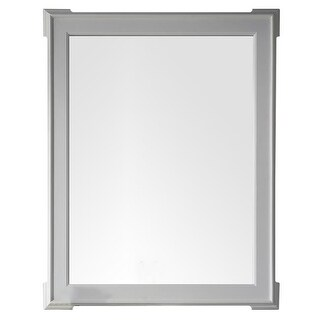 James Martin Furniture Pasadena 35 in. Mirror, Bright White