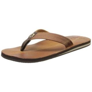 Cushe Mens Fresh Leather Thong Flip-Flops - 7