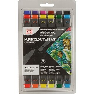 Natural Colors - Kurecolor ZIG Twin WS Marker Set 12/Pkg