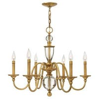 Hinkley Lighting 4956 6 Light 1 Tier Candle Style Chandelier from the Eleanor Collection